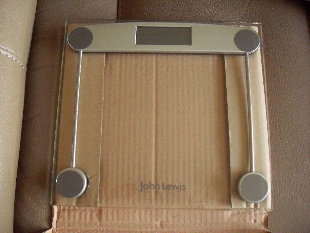 John Lewis Digital glass bathroom scales - Brand New