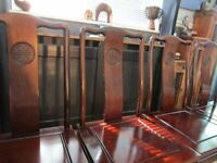 Chinese Rosewood Dining Chairs x4