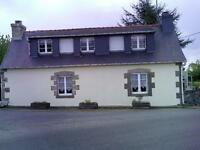 Brittany 2 bed cottage with large gardens