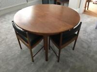McIntosh Teak Extendable Dining Table & 6 Leather Chairs