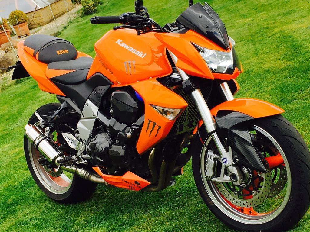 Kawasaki Z1000 Motorbike 2007 In Stunning Orange Monster Naked A1 Condition