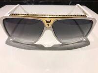 Genuine Louis Vuitton Evidence Sunglasses white gold, rrp £480, bargain