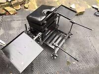 Grandeslam G2 Fishing Seat Box With Footplate And Side Trays