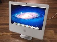"1.83Ghz 17"" APPLE White iMac Computer 4GB 160GB Logic Pro 9 Ableton Final Cut Pro Studio 7 Adobe CS6"