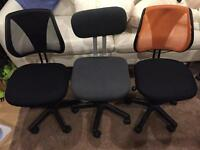 3x Small Office Chairs