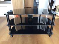 Serano Black Glass TV Stand (S800BG11)