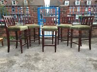 Bar Chairs - Bar Stools - Set Of 6 Bar Chairs - Very Tall Bar Chairs