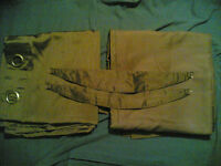 """New Pair of Brown Lined Silky Curtains (width 64"""", drop 72"""")"""