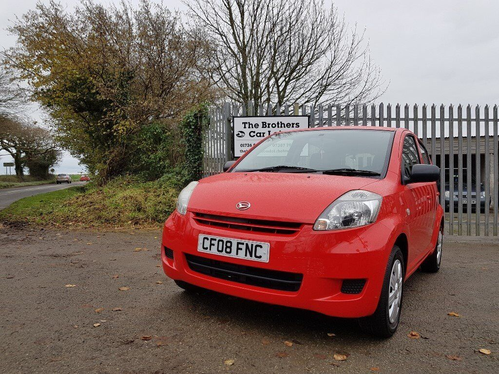 2008 Daihatsu Sirion S 1.0 Red 5 Door Manual