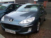 2005 05 LOW MILAGE PEUGEOT 407 HDI DIESEL NEW CLUTCH AND FLY WHEEL NEW MOT INCLUDED REDUCED TO £1795