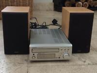 Denon receiver including speakers