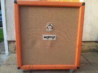 Orange Marshall 4x12 speaker cab, 300 watts, original G12 Celestions