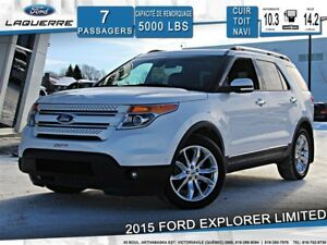 2015 Ford Explorer LIMITED**AWD*7 PLACES*CUIR*TOIT*NAVI*CAMERA**