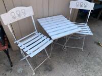 Bistro set 1 table 2 chairs garden furniture