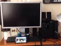 """Dell desktop with 24"""" monitor tiltable"""