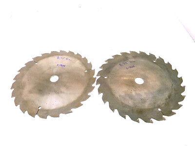 2 Used Meyco-customline Carbide Tipped Wood Saw Blade 8.75-diameter X-7688