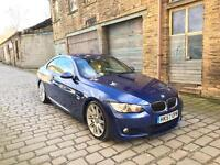 2008 57 BMW 335d M SPORT COUPE AUTO PADDLES WIDE SAT NAV BEIGE LEATHERS BARGAIN MUST SEE