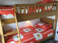 Bunk beds. Aspace, Porterhouse oak bunk beds. Excellent quality and condition.