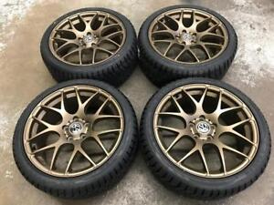 "18"" Matt Bronze Volkswagen Wheels And 225/40R18 Sailun Winter Tires (Golf, Jetta)"