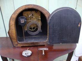 Vintage,Enfield, Mantle Clock,For Spares Or Repair.