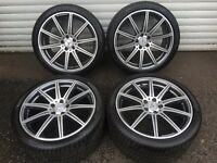 "19"" GENUINE MERCEDES E CLASS ALLOY WHEELS TYRES AMG W212 E63 AMG CLS W218 63 AMG"