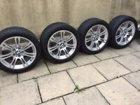 "Genuine BMW 18"" M Sport 350M alloys + runflats staggered F10"