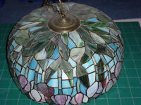 Large professionally made Tiffany style hanging lampshade.