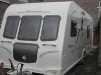 Bailey Olympus 534 2010 Fixed Bed with 2 awnings and Power touch remote mover