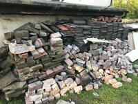 Roof tiles and rubble free to collect