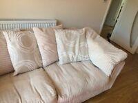 Cream pillow back sofa