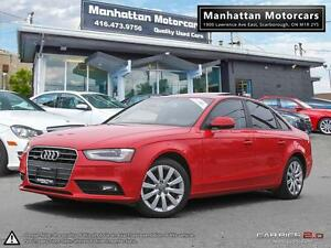2013 AUDI A4 2.0T QUATTRO PREMIUM PKG |LEATHER|ROOF|ALLOY|1OWNER