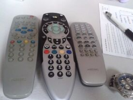 TV REMOTE CONTROL 3 IN TOTAL ALL WORKING ORDER