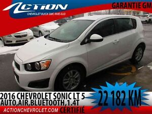 2016 CHEVROLET SONIC 5 LT AUTO,AIR,1.4T,BLUETOOTH