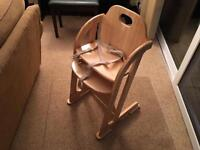 2 in 1 Mothercare wooden high chair