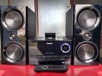 Philips Music System DCM3020/05 with Dock for iPad/iPhone/iPod/USB/MP3/AUX/Power 2x60 watts channel