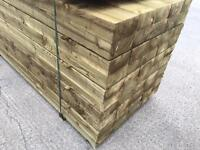 🏅New Timber Pressure Treated Railway Sleepers ^ Top Quality