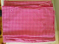 Unused Pink Gingham Single Bed Fitted sheet and pillowcase