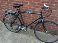 "Men's 23"" hybrid bike bicycle. Inc lights, mudguards & rack. Delivery & D lock available"