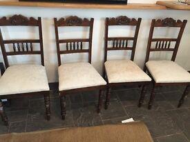 Dark oak refectory chairs