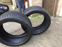 2 Michelin pilot alpin tires 245/40 r18