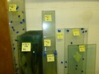 Glass shelves, 10mm low iron toughened glass, various sizes