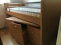 Dreams Hampshire Cabin bed/mid sleeper with Brand new Mattress!!