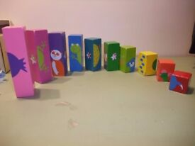 Shaker stacking blocks toy