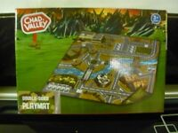 ARMY DOUBLE SIDED PLAY MAT WITH 2 ARMY TRUCKS -NEW-