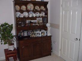 Oak Dresser/Display Unit
