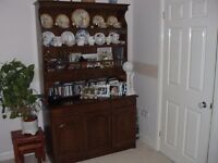 Oak Dresser/Display Unit