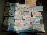 banknotes from all around the world