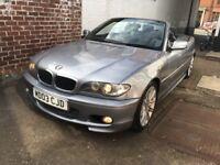 2005 BMW 320CD MSPORT CONVERTIBLE DIESEL * PRIVATE PLATE * * 12 MONTHS MOT * MINT CONDITION *
