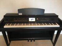 Yamaha Clavinova CVP 605 Digital Piano, matt black in very good condition