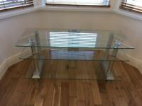 Glass tv stand. Good quality. I can deliver within 10 miles of Belfast!